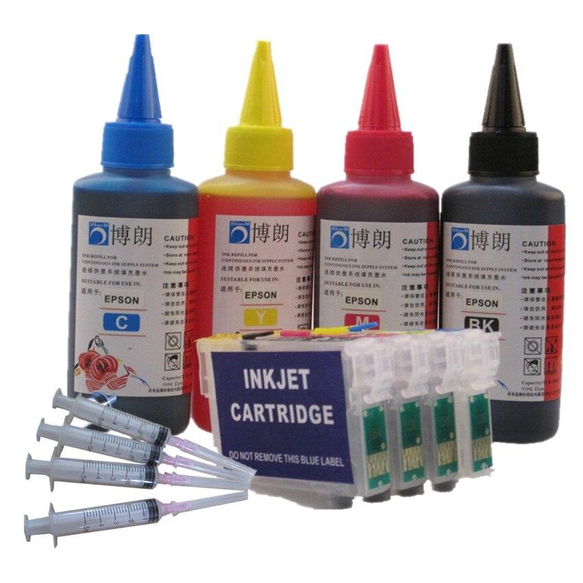 Refill Ink Kit For 16 XL T1631 Refillable Ink Cartridge For Epson WF 2750DWF 2760DWF 2010W 2510WF 2530WF 2540WF 2630WF 2650 DWF