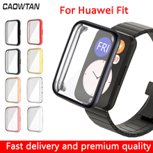 Cover Screen-Protector Fit-Case Watch Bumper Soft-Shell Huawei for Lightweight Tpu Scratch-Resistant