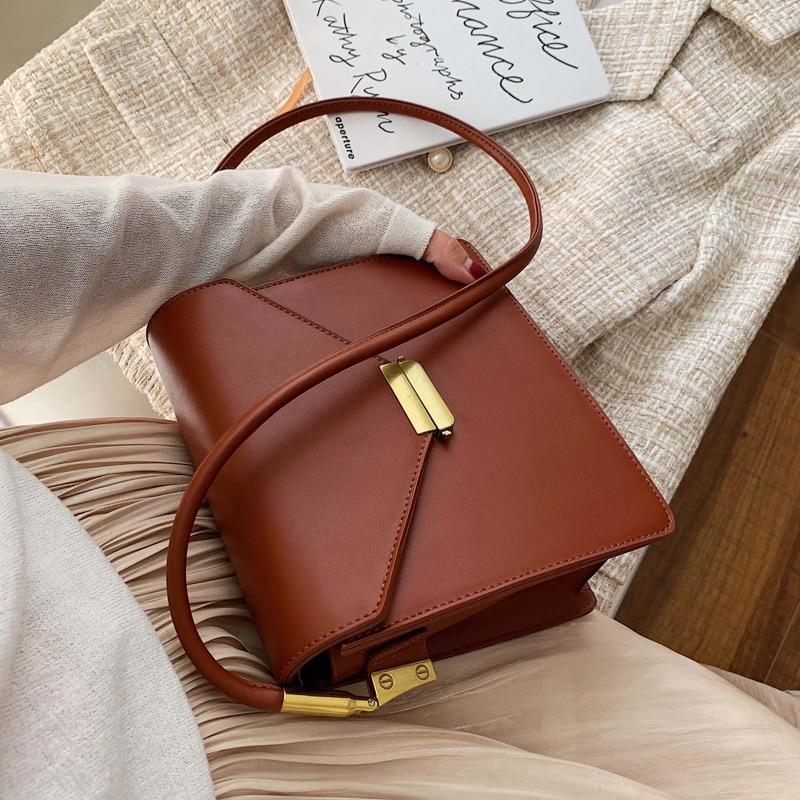 Uxury Brand Female Square Bag 2020 Fashion New High Quality PU Leather Women's Designer Handbag Lock Shoulder Messenger Bag