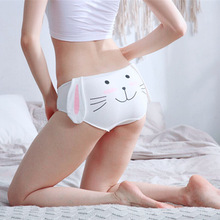 Jhyzmy Japanese cute two yuan rabbit long ears cartoon cotton underwear women breathable аккумуляторная цепная пила ryobi one ocs1830