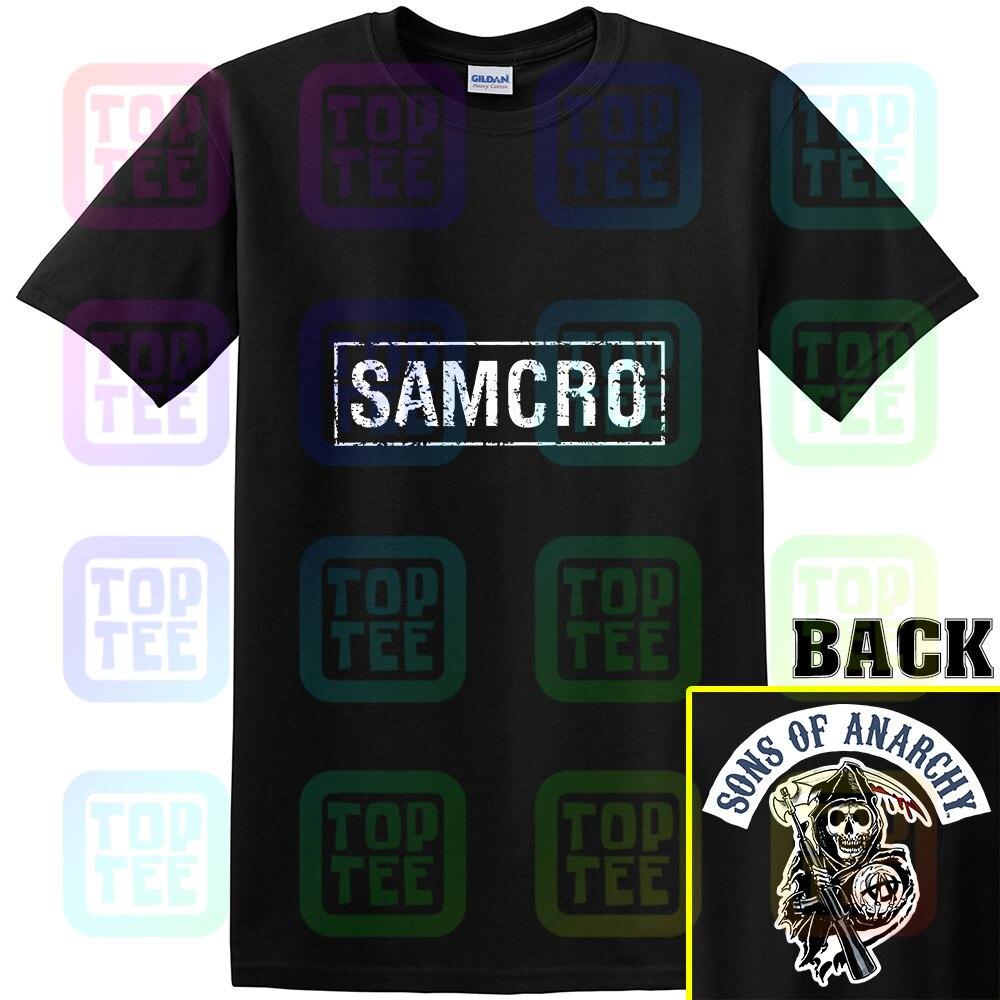 Sons Of Anarchy Samcro Tee Shirt Grey Adult Summer Streewear Size:S-3Xl