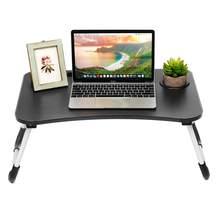 Портативный складной регулируемый стол для ноутбука Кровать Подставка для ноутбука с отделением для карт нескользящий коврик небольшой складной эргономичный стол 60x40 см