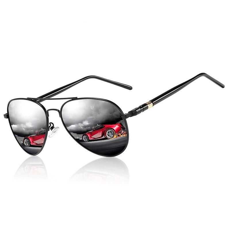Occhiali da sole classici polarizzati uomo occhiali da guida occhiali da sole pilota neri Designer di marca occhiali da sole retrò maschili per uomo/donna 2