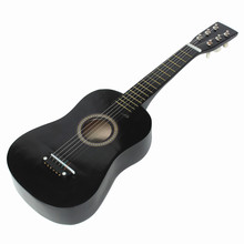 Acoustic-Guitar Music-Instrument Beginner-Wood 6-Strings Pick-Wire Black Kids Folk
