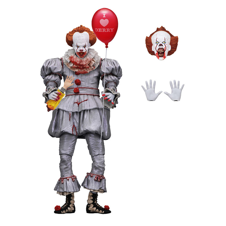 Image 2 - Tronzo  Action  Figure  NECA  IT  Pennywise  Figure 18cm  IT Clown Model Collection Decor For Halloween Gift-in Action & Toy Figures from Toys & Hobbies