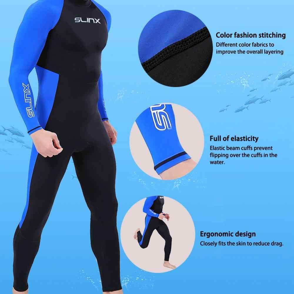 Tam vücut erkekler Wetsuit sörf uzun kollu naylon benzersiz başlık Wetsuit spor tüplü dalış için