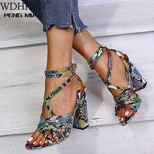Gladiator Sandals Woman Summer Vintage Snakeskin Women Lace