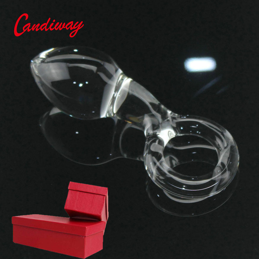Candiway Big <font><b>Crystal</b></font> <font><b>Glass</b></font> <font><b>Dildo</b></font> <font><b>Anal</b></font> <font><b>Plug</b></font> Prostate Massager G-spot Masturbation <font><b>Sex</b></font> Products Erotic Toys For Women Men image