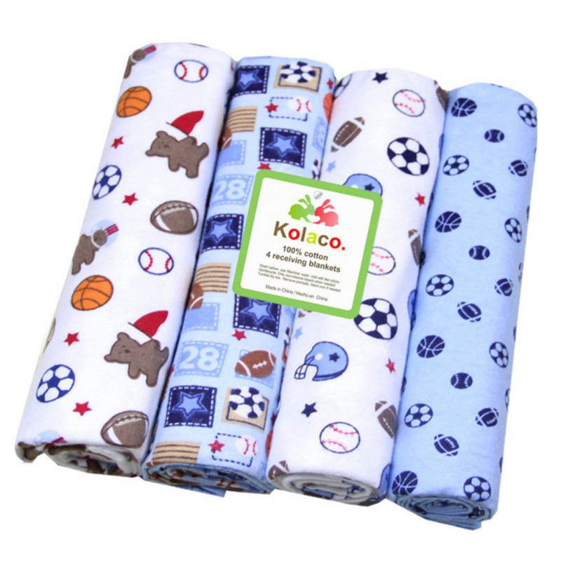 4 Pcs Infant Baby Girls Boys Mattress Cotton Cartoon Animal Fitted Crib Sheets Toddler Bed Mattresses Standard Mattress