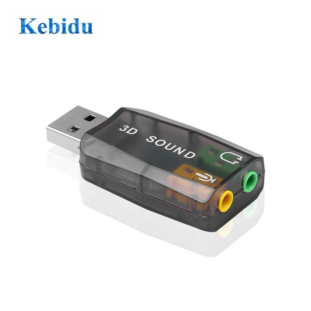 Внешняя мини-стереогарнитура с Usb на 3,5 мм микрофон для наушников стереогарнитура 3d Звуковая карта аудио адаптер новый интерфейс для динами...