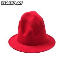 Шерстяные вулканические шляпы с широкими полями, фетровые шляпы для мужчин и женщин, хип-хоп реквизит для взрослых, осенние и зимние подарки для рождественской вечеринки