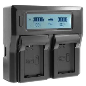 Image 1 - ホット3C Cameraバッテリー充電器デュアルチャネル液晶表示のクイックソニーNp Fp70 Fp90 Np Fv50 Np Fv60 Np Fv70 np fv
