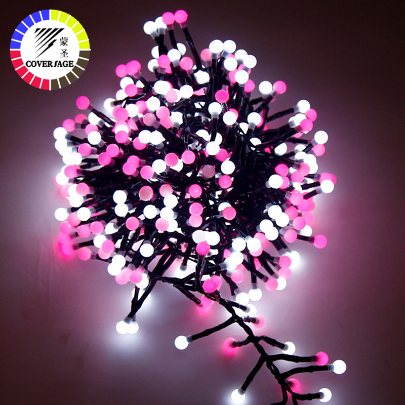 Coversage Christmas Fairy 3M 400 Led String Garland Tree Light Chain IP 65 Waterproof Home Garden Outdoor Holiday Decoration