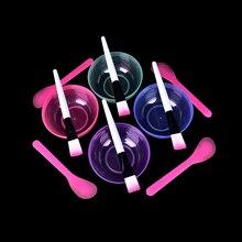 3 шт/1 шт домашний макияж набор красоты DIY миска для масок для лица кисть ложка палочка инструмент