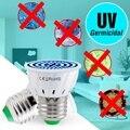 E27 уф бактерицидный свет MR16 дезинфицирующая лампа E14 LED UVC лампа GU10 LED стерилизатор Лампа 48 60 80 светодиодов ультрафиолетовая лампочка B22