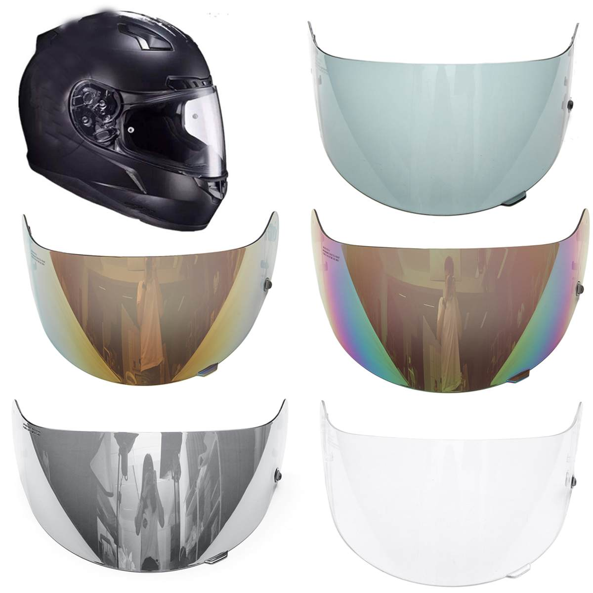 Motorcycle Helmet Lens Visor Helmet Glasses Lens Full Face For HJC CL-16 CL-17 CS-15 CS-R1 CS-R2 CS-15 FG-15 TR-1