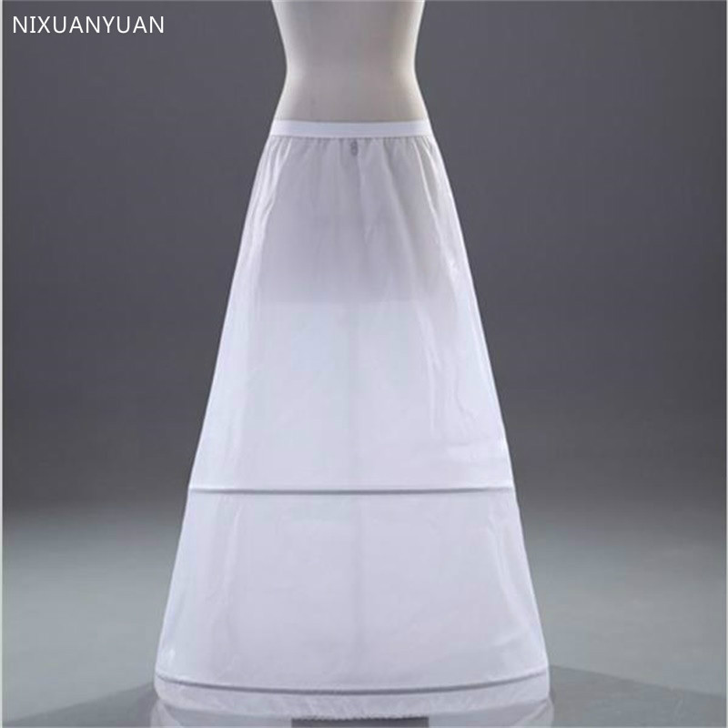Brand New A-line Petticoats White 2-Hoops Underskirt Crinoline For Wedding Dress Bride Gown In Stock Wedding Accessories