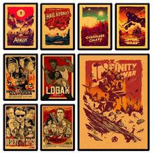 Star wars poster vintage Avengers movie classic  iron man decorativo