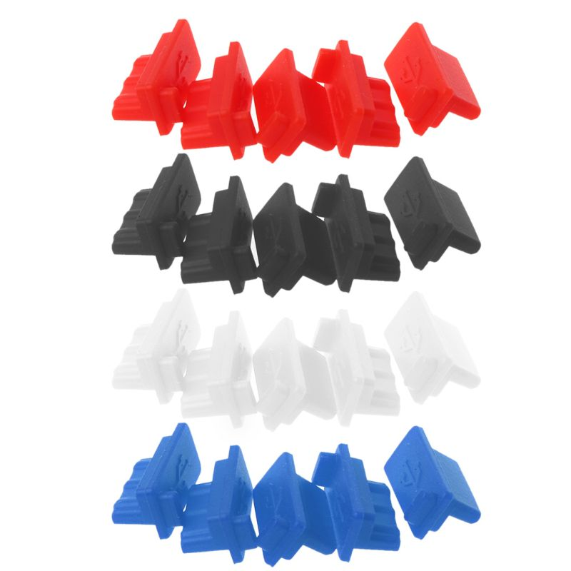 5PCS 5PCS USB Dust Plug Charger Port Cover Cap Female Jack Interface Universal Silicone Dustproof Protector Tablet PC Notebook