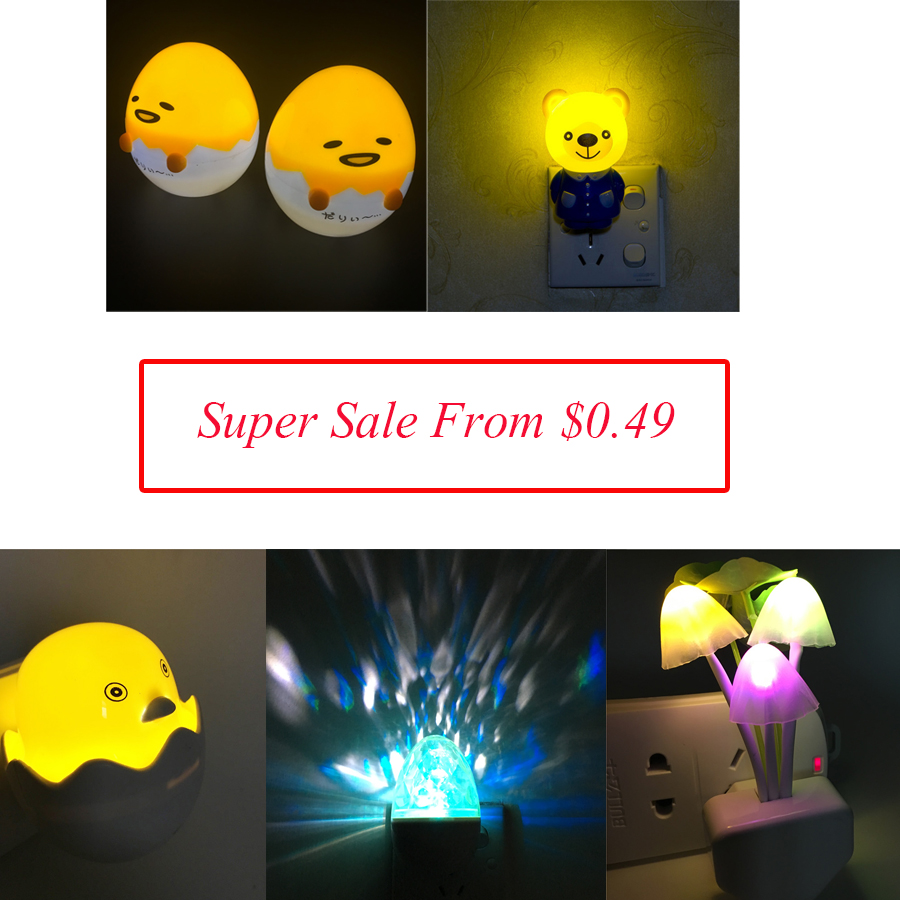 Super Sale Discount Price 3D Cartoon Night Lamp Bear / Tiger / Egg / Square / Mushroom Shape For Baby Sleeping Lighting