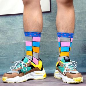 Image 4 - SANZETTI 12 paires/lot chaussettes colorées pour hommes chaussettes en coton peigné nouveauté de mariage chaussettes Multi robe heureuse conception décontracté chaussettes déquipage