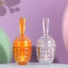 Tube de brillant à lèvres en plastique ambre clair de 5.5ML, contenant de brillant à lèvres à faire soi-même, bouteille vide, outil cosmétique