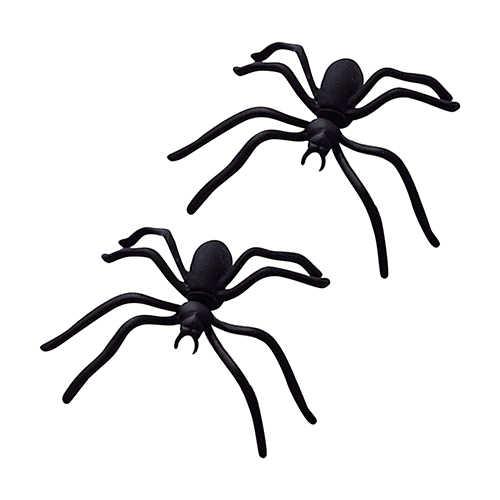 Halloween niño niña 1 pieza gracioso extraño Big Black Spider Ear Stud arete estilo punk joyería nuevo