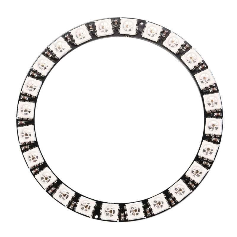 RGB LED Ring 24 Bits LEDs WS2812 5050 RGB LED Ring Lamp Light With Integrated Drivers