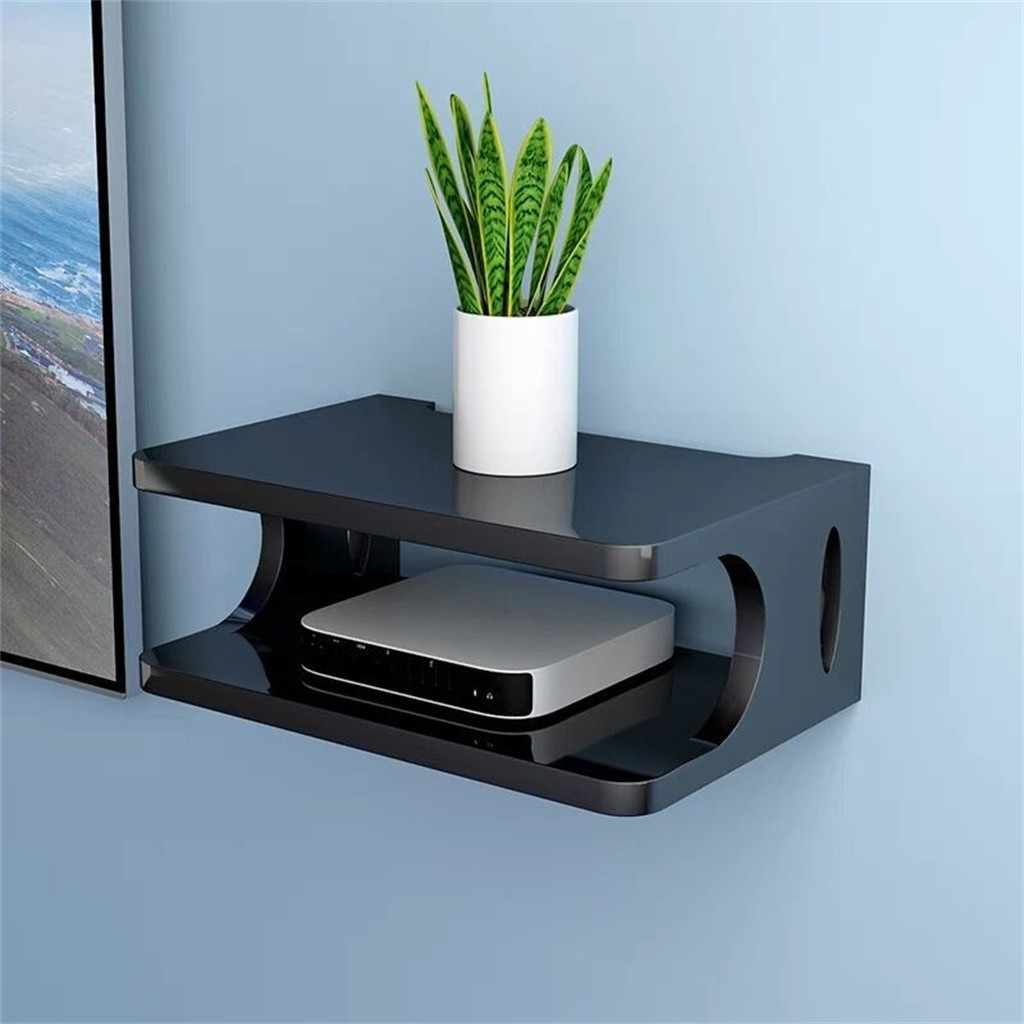 Floating Shelf For Tv Components Metal Wall Mounted Media Console 2 Tier For Cable Boxes Routers Remotes Dvd Players Game Consol Tv Mount Aliexpress