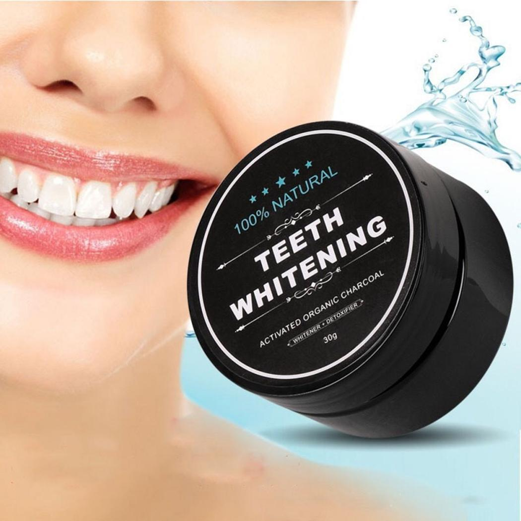 Dental Care Oral Care Activated Carbon Tooth Whitening Adult Black Mint Teeth Powder 30g