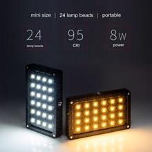 Viltrox RB08 Mini światło led do kamery przenośna kamera panel świetlny 2500K ~ 8500K bi color CRI95 + wbudowana bateria do kamery DSLR