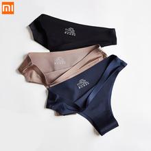 3pcs Xiaomi Panties Briefs Woman Underwear Sexy Seamless Sports Female T-back G-string Thongs Underpant Ice Silk Women Panties cheap CN(Origin)