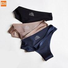 Xiaomi Panties Underwear Thongs G-String Ice-Silk Seamless Female Sexy Sports Women 3pcs