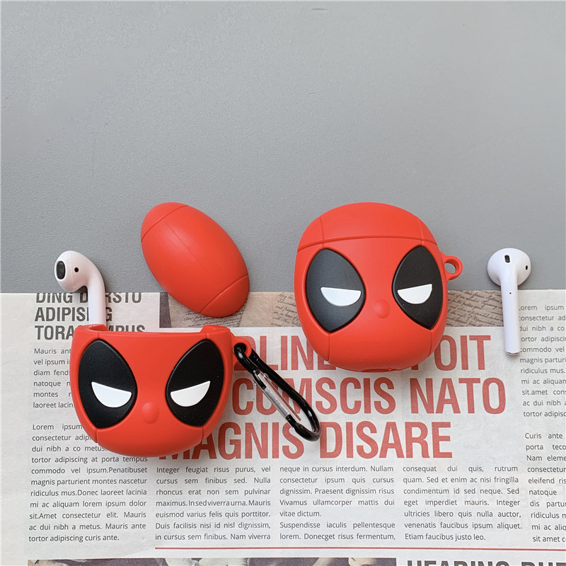 3D Marvel Superhero Deadpool Wade Winston Wilson Headphone Cases For Apple Airpods 1/2 Silicone Protection Earphone Skin Cover