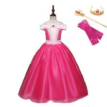 Małe dziewczynki śpiąca królewna kostium dzieci karnawał urodziny fantazyjne księżniczka Aurora na imprezę Cosplay sukienka dziecięca suknia balowa tanie tanio VASHEJIANG Zestawy Film i TELEWIZJA Dziewczyny sleeping beauty Princess Suknie 65214 Kostiumy Poliester
