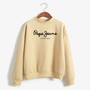 2020 Autumn Winter Harajuku Hodie For Women Casual Keep Warm Letters Printed Top Sweat Shirt Round Neck Pullovers