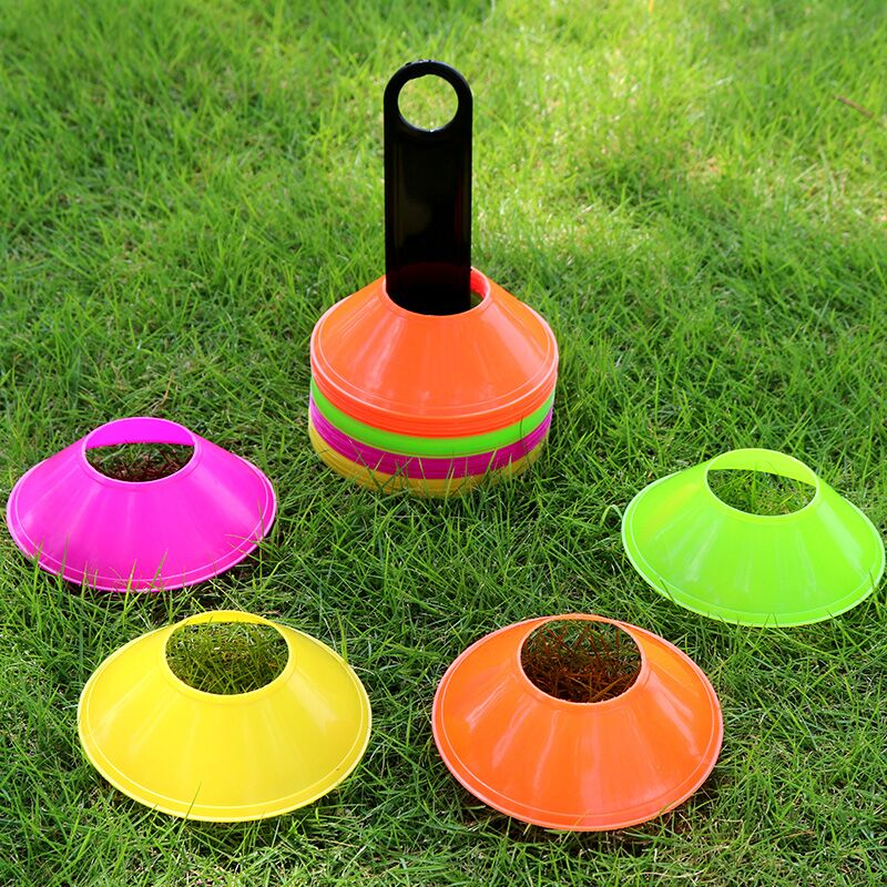 50pcs/lot Outdoor Sport Football Training Disc Cones Track Space Marker Inline Skating Cross Speed Training