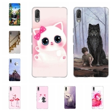 For Sony Xperia L3 Case Ultra-thin Soft TPU Silicone Cover Cute Cat Patterned Coque Funda