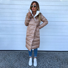 Winter Coat 2019 Women Double Sided Long Jacket Winter Turtleneck Warm Parka Lad