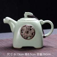 Dehua Çömlek Demlik Ru Fırın Açılış çay seti Tek Pot Retro Kung Fu Jin Jun Mei Siyah Teaware Ücretsiz Kargo