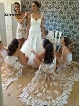 Vestido Де Casamento Кружева Феста Платье Невесты Высокая Низкая Платья Платья