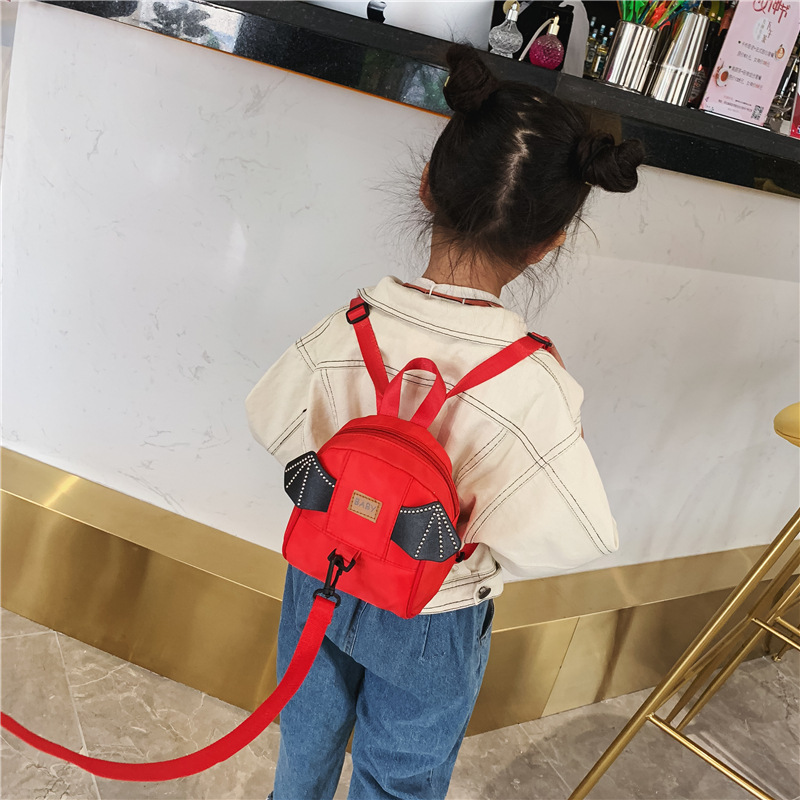Korean-style CHILDREN'S Bag 2019 New Style Cartoon Wing Anti Lost Backpack Fashion Cute Baby Backpack Fashion