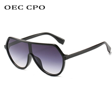 OEC CPO Women Flat Top Square Sunglasses Women Bran