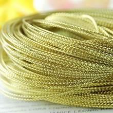 100 ярдов 1 мм золотистого нейлона нить китайский узел шнур
