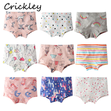 3Pcs/Lot Child Girls Boxer Cartoon Flower Rainbow Mermaid Print Panties for Toddler of 12 Years In Cotton Underwear