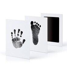 Уход за ребенком нетоксичный детский ручной принт Набор для отпечатка ступней новорожденный отпечаток чернильный коврик Младенческая глиняная игрушка Подарки Детские сувениры литые