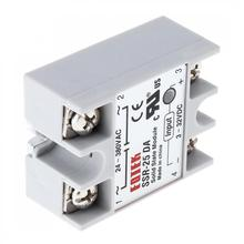 цена на 1pcs Durable SSR-25DA Remote-control Machinery  Fire Protection System Solid State Relay Module 3-32V DC To 24V-380V AC 25A