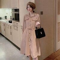 Вельветовое платье на пуговицах Цена 1114 руб. ($14.03) | 32 заказа Посмотреть