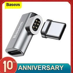 Baseus USB Loại C Dây Cáp Từ Adapter Cho Macbook Samsung S8 S9 Oneplus 5 5T 6 Sạc Nhanh Nam Châm USB-C Cổng Kết Nối