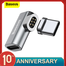 Baseus USB Tipo di Cavo C Per Tipo-C Magnetico Adattatore Per Macbook Samsung s8 s9 OnePlus 5 5T 6 di Ricarica veloce Magnete USB-C Connettore